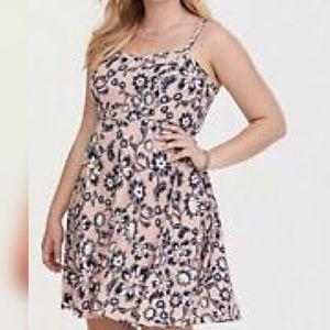 TORRID Paisley Floral Challis Skater Tank Dress 2